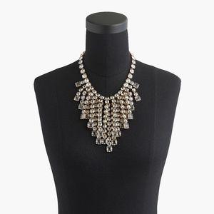 Jcrew Cascading crystal necklace